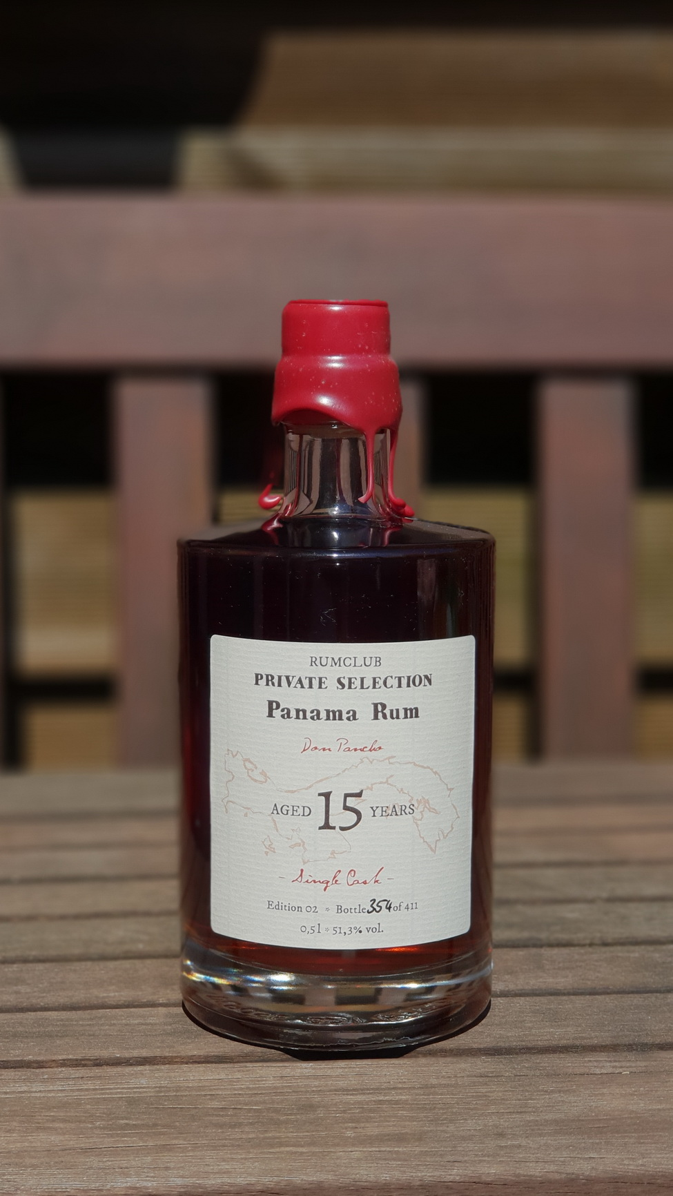 Rumclub Private Selection Panama Rum von Don Pancho.Edition 02, Flasche Nr. 354 von 411.
