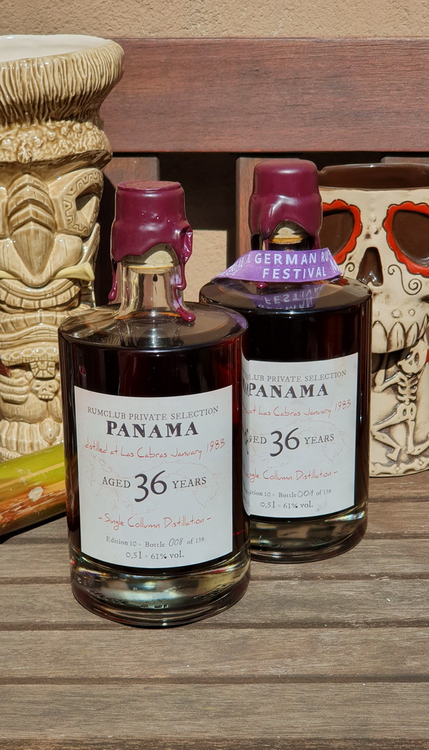 Rumclub Private Collection Panama Rum 36 Years Bottle 1 & 8 of 138 !